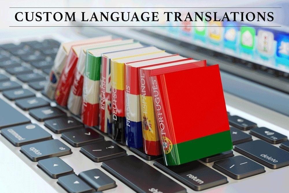 Custom Language Translations