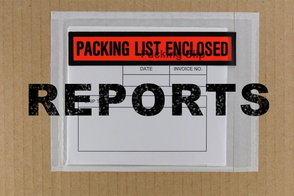 Packing List Reports